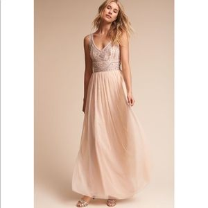 Anthropologie x BHLDN Sterling Beaded Dress